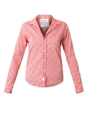 Barry anchor-embroidered checked shirt