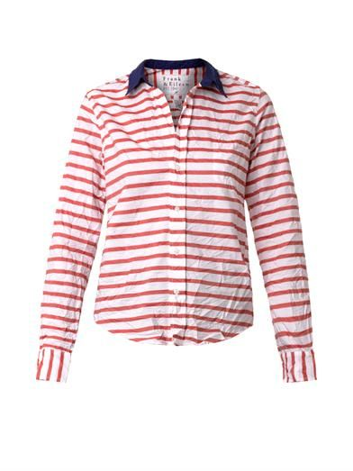 Frank & Eileen Barry striped cotton shirt