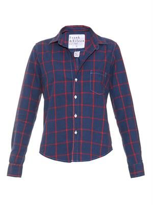Barry large-check cotton shirt