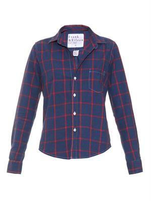 Barry large-check cotton shirt