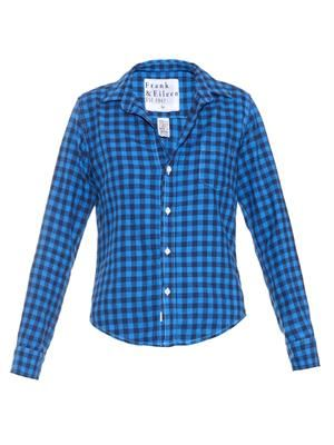 Barry check-print cotton shirt