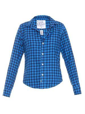 Barry check-print cotton shirt