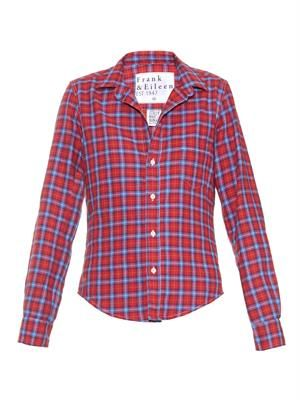 Barry tartan-print cotton shirt