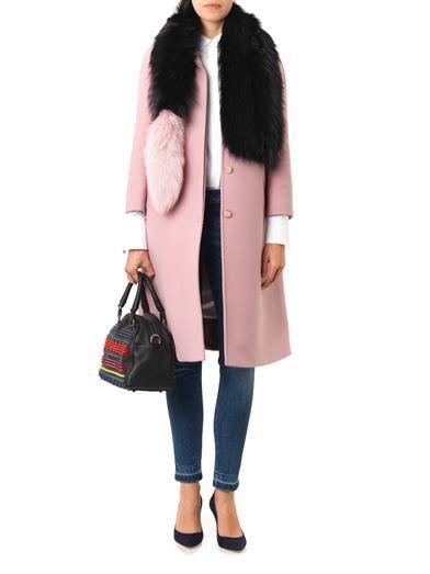 Charlotte Simone Popsicle bi-colour fur scarf