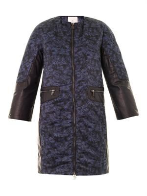Boom failette-print down coat