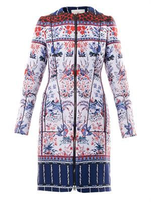 Birdy jacquard down coat