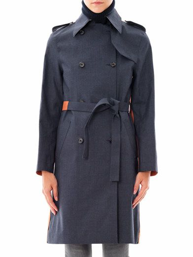 Hancock Bi-colour trench coat