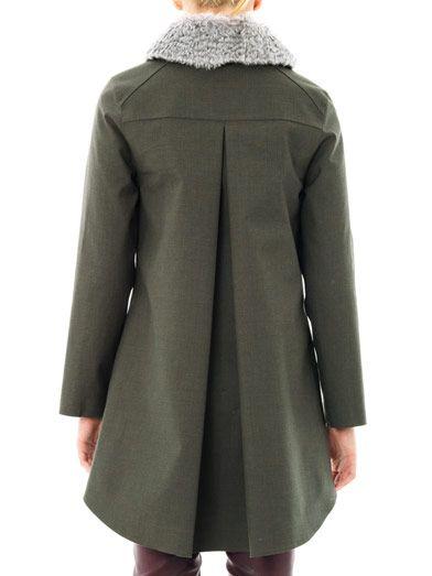 Hancock Mohair collar swing coat