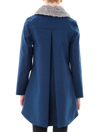 Hancock Mohair collar swing coat