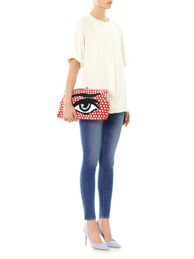 Sarah's Bag Clutch Me embellished eye clutch