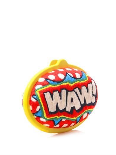 Sarah's Bag Eggzy WAW! embroidered clutch