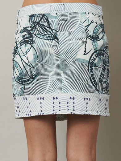 Mary Katrantzou X Current/Elliott The Past Skirt