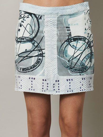 Mary Katrantzou X Current/Elliott The Past Skirt