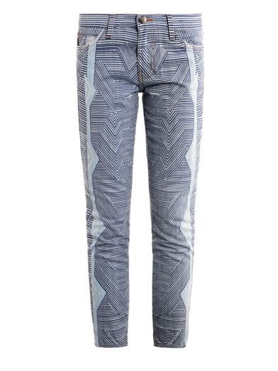 Mary Katrantzou X Current/Elliott Albatross skinny jeans