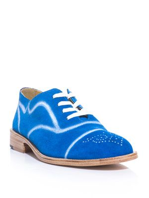 Painted detail lace-up shoe