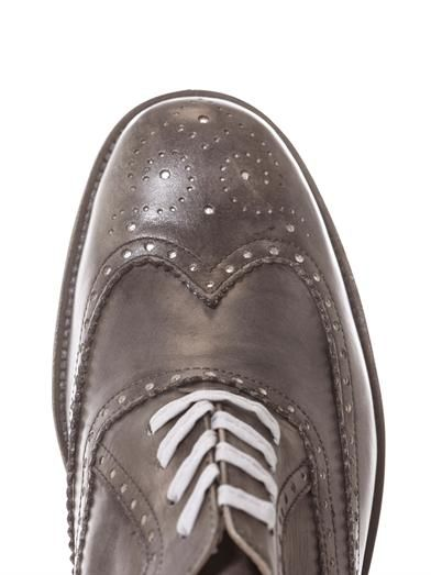 Esquivel Davis burnished leather brogues