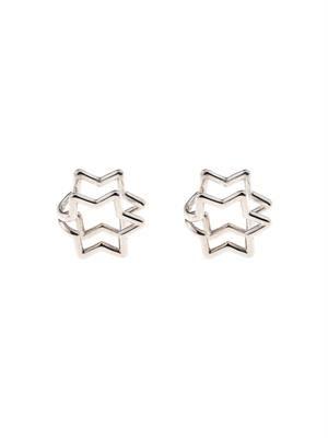 Star sterling-silver earlobe cuffs
