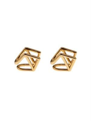 Kite gold-plated earlobe cuffs