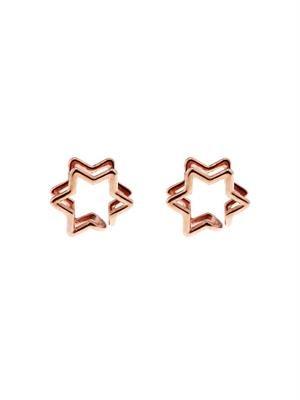 Star gold-plated earlobe cuffs