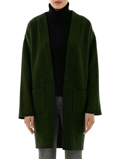 Anne Vest Collarless wool cardigan
