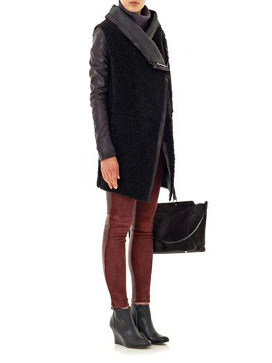 Anne Vest Leather and suede leggings