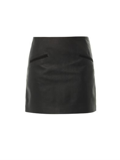 Anne Vest Perforated leather mini skirt