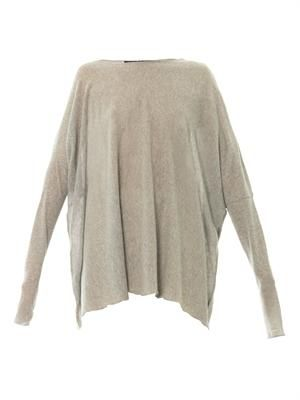 Fine-knit wool sweater