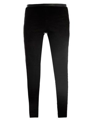 Stretch-leather trousers