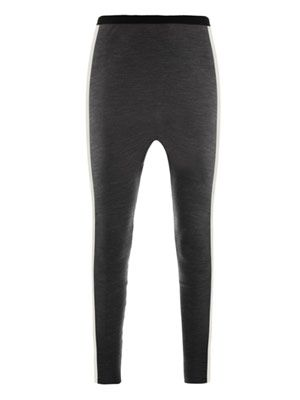 Slouchy stretch-wool trousers