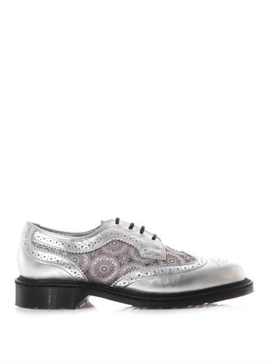 Dr. Martens Irene leather and silk lace-up shoes