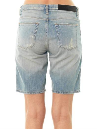 Each X Other Slogan-print low-slung boyfriend shorts