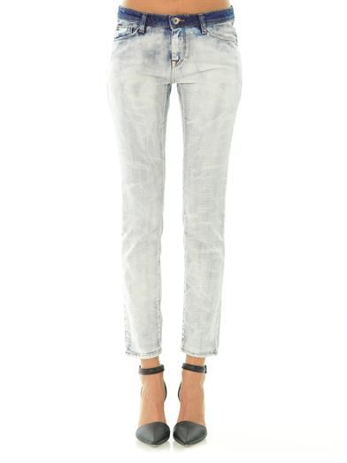 Each X Other Bleached denim slim-boyfriend jeans