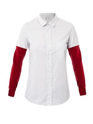 Contrast sleeve shirt
