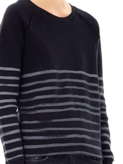 Each X Other Stripe cotton sweatshirt
