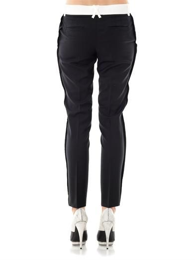Each X Other Tuxedo raw-edge wool trousers