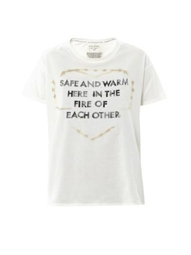 Each X Other Safe and Warm print T-shirt