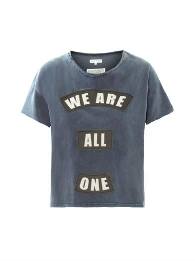 Each X Other We are all one patch slogan T-shirt