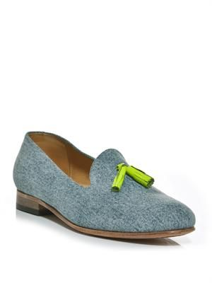 Gaston denim loafers