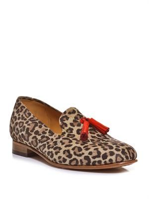 Gaston leopard loafers