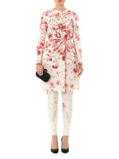 Giambattista Valli Couture Wedgewood-print silk-faille evening coat