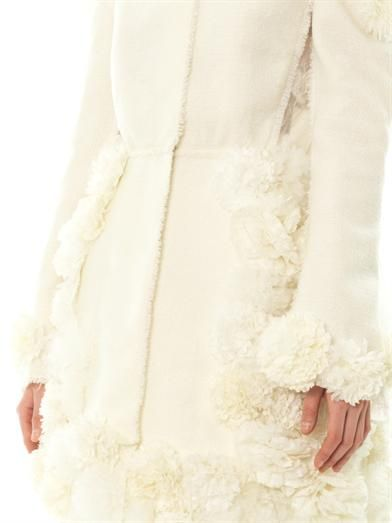 Giambattista Valli Couture Wool-tweed floral detail coat