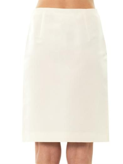 Giambattista Valli Couture Silk-faille pencil skirt