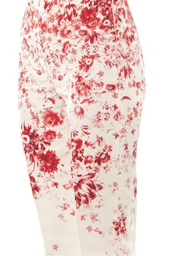 Giambattista Valli Couture Wedgewood-print silk-faille trousers