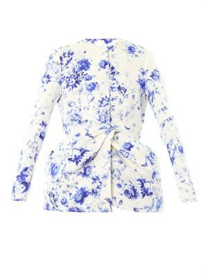 Wedgewood-print silk-faille jacket