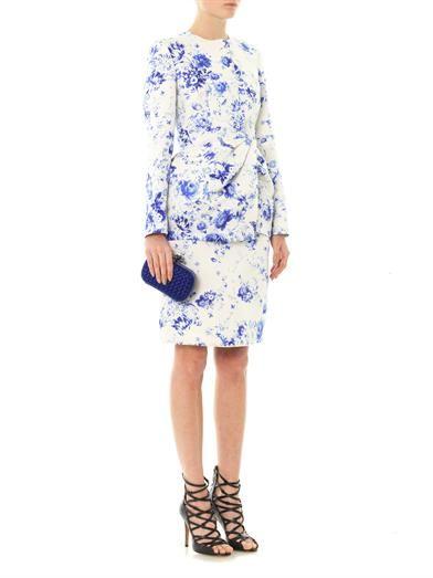Giambattista Valli Couture Wedgewood-print silk-faille jacket