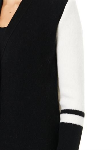 Atto Bi-colour wool-blend cardigan