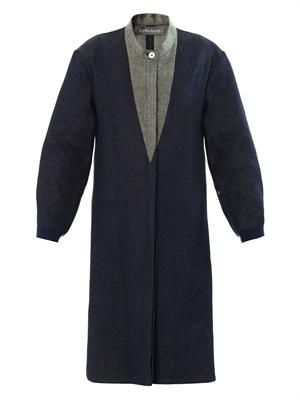 Hemp denim coat