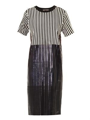 Talina foil stripe T-shirt dress