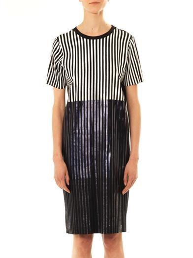 Joe Richards Talina foil stripe T-shirt dress