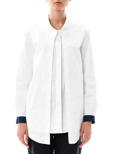 Joe Richards Patti pleat-front shirt